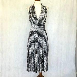 Calvin Klein Cutaway Sleeveless Pattern Knit Dress